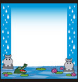 jungle animals cartoon 8 vector image