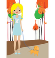 little young girl vector image