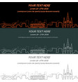 new orleans event banner hand drawn skyline vector image