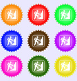 rock climbing icon sign Big set of colorful vector image
