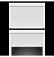 Roller shutters garage vector image