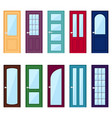 set of color door icons vector image