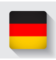 Web button with flag of Germany vector image