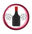 wine bottle isolated icon vector image
