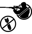 No war stencil vector image