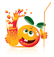 lively orange vector image vector image