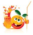 lively orange vector image