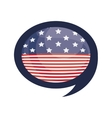 Isolated usa flag inside bubble design vector image