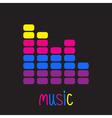 Colurful digital equalizer Music card vector image