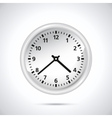 White Clock vector image