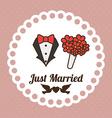 Wedding design over pink background vector image