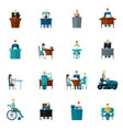 Sedentary Icons Flat vector image
