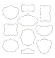Vintage frames isolated on white background vector image