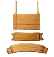 Set of light wooden banners vector image vector image