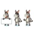 Gray Donkey Mascot happy vector image