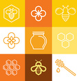 logo and packaging design templates in trendy vector image vector image