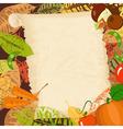 autumn leaves frame2 vector image