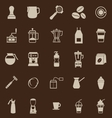 Barista color icon on brown background vector image