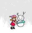 ChristmasCartoon02 X vector image
