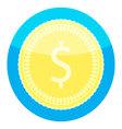 Coin golden money icon vector image