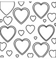 heart love isolated pattern vector image