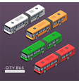 Set with city bus icons vector image