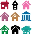 simple houses vector image