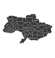 ukraine-map-with-labels-black vector image