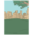 Park Townscape Sketch vector image