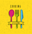 cooking lessons flat vector image