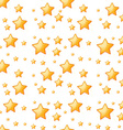 Seamless yellow stars vector image vector image