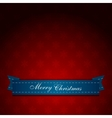 Vintage red Christmas greeting card vector image