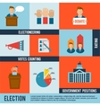 Election Icon Flat vector image