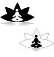 Lotus position meditation vector image vector image