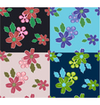 summer flower pattern vector image vector image