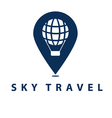 Conceptual pin and balloon vector image