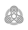 fidget spinner line icon vector image