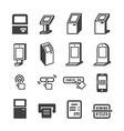 Kiosk icon vector image