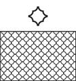 Quatrefoil Pattern Swatch vector image
