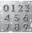 Trendy grey fractal geometric numbers vector image vector image
