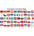 European countries flags vector