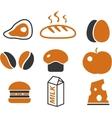 cartoon food signs vector image vector image