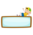 Kid with sign vector image