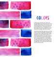 abstract watercolor background tropical colors vector image