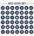 Big SEO icon set vector image