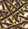 Bullets seamless pattern Many military Bandolier vector image