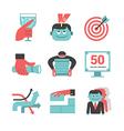 Content management flat icons set Part 1 vector image