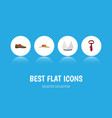 flat icon clothes set of male footware elegant vector image
