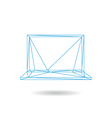 Laptop icon abstract vector image