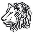Lion head tribal tattoo vector image